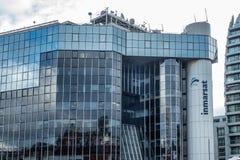 国际海事卫星组织总部在伦敦 免版税库存图片