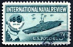 国际海军回顾美国邮票 免版税库存照片