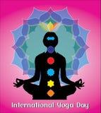 国际瑜伽天创造性的概念 免版税图库摄影