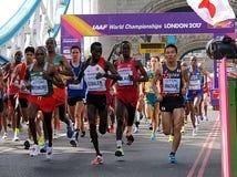 国际田联马拉松2017年 免版税库存图片