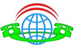 国际的连接数 库存照片
