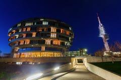 国际神经科学学院在汉诺威,德国,在晚上 免版税库存图片