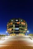 国际神经科学学院在汉诺威,德国,在晚上 库存照片
