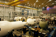 国际空间站大模型 库存图片