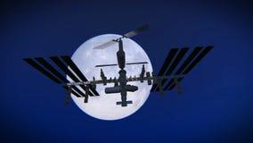 国际空间站英尺长度- ISS 向量例证
