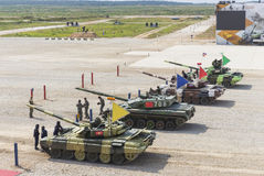 国际竞争坦克两项竞赛 免版税库存图片
