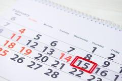 国际童年巨蟹星座天 在cale的2月15日马克 免版税库存图片