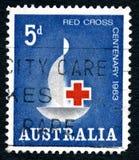 国际红十字会澳大利亚邮票 库存照片