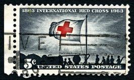 国际红十字会美国邮票 库存照片