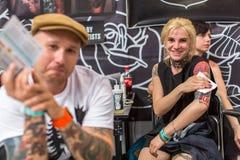 国际纹身花刺大会在波兰 免版税库存图片