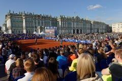 国际网球赛开放的圣彼德堡陈列比赛  免版税图库摄影