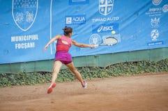 国际网球赛的Teodora Stinga 库存照片