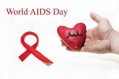 国际艾滋病天摘要照片 免版税库存图片