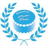 国际蛋糕天的标志 库存图片