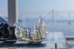 国际象棋棋局背景 库存图片