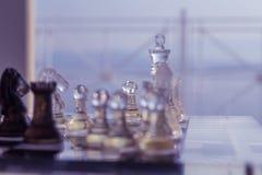 国际象棋棋局背景 库存照片