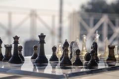 国际象棋棋局背景 图库摄影