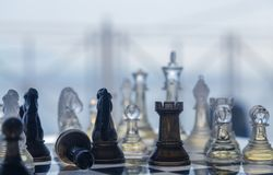 国际象棋棋局背景 免版税库存图片