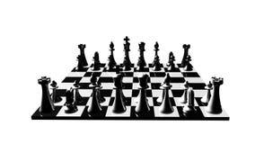 国际象棋棋局转动的动画。竞争和竞争的概念在事务 库存例证