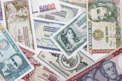 国际货币报纸 库存图片