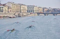 国际赛船会划船都灵 图库摄影