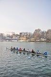 国际赛船会划船都灵 免版税库存图片
