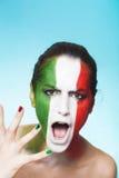 国际足球联合会的叫喊的意大利支持者2014年 免版税图库摄影
