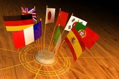 国际通信、外交和外语翻译概念 皇族释放例证