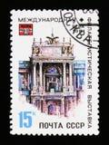 国际集邮陈列在维也纳,大约1981年 免版税库存照片