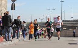 国际马拉松在城市 免版税库存图片