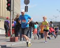 国际马拉松在城市 库存图片