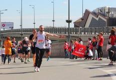 国际马拉松 库存照片