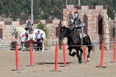 国际马背射击的竞争 免版税库存图片