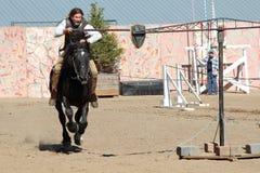 国际马背射击的竞争 免版税库存照片