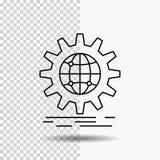 国际,事务,地球,全世界,在透明背景的齿轮线象 r 向量例证