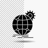 国际,事务,地球,全世界,齿轮在透明背景的纵的沟纹象 ?? 向量例证