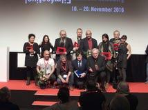 从国际Moviefestival曼海姆海得尔堡的优胜者2016年 免版税库存图片