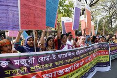 国际women's天被观察的孟加拉国 免版税库存图片