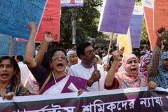 国际women's天被观察的孟加拉国 库存照片