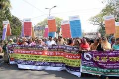 国际women's天被观察的孟加拉国 免版税库存照片