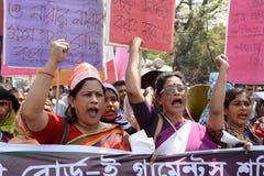 国际women's天被观察的孟加拉国 库存图片