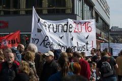 国际Workers'天 2016年5月1日,柏林,德国 库存图片