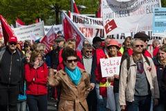 国际Workers'天 2016年5月1日,柏林,德国 免版税图库摄影