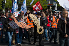国际Workers'天 2016年5月1日,柏林,德国 免版税库存照片