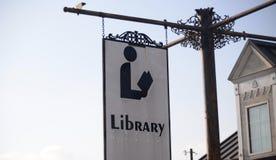 图书馆为公开使用 免版税图库摄影