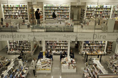 图书馆商店在佛罗伦萨意大利 免版税库存图片