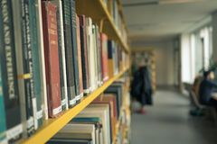 图书馆在哥本哈根大学 库存图片