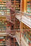 图书馆在Rijksmuseum在阿姆斯特丹,荷兰 免版税库存照片