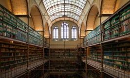 图书馆在Rijksmuseum,阿姆斯特丹 免版税库存图片
