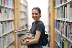 图书馆妇女 免版税库存图片